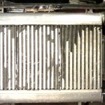 Stock triple-core intercooler mounted